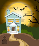 Halloween house background Stock Images