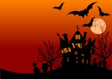 Halloween house flyer Stock Image