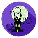 Halloween House Icon Represents Trick Or Treat And Apartment Stock Image