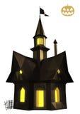 Halloween house low poly Stock Photos
