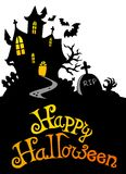 Halloween house with sign 3 Stock Image