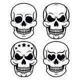 Halloween human skull design - death, Day of the Dead Stock Images