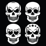 Halloween human skull white design - death, Day of the Dead Stock Photo