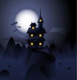 Halloween Hunted house Royalty Free Stock Image
