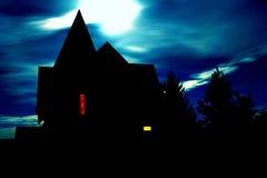 Halloween hus Royaltyfri Fotografi