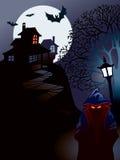 halloween hus royaltyfri illustrationer