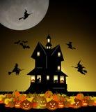 halloween hus Royaltyfria Bilder