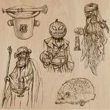 Halloween, i mostri, magia - Vector la raccolta Immagine Stock