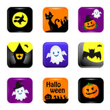 Halloween icon. Various Halloween icons white background Royalty Free Stock Photos