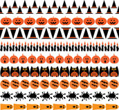 Halloween icon borders. Stripes clipart vector illustration