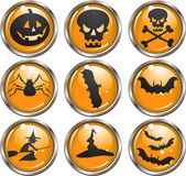 Halloween Icon Buttons Stock Images