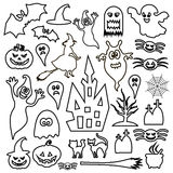Halloween icon isolated on white background. Vector art. Royalty Free Stock Images