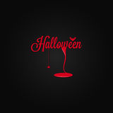 Halloween icon lettering blood drop background Royalty Free Stock Image