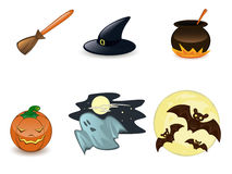 Halloween icon set Stock Images