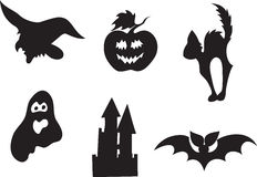 Halloween icon set Stock Image