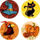Halloween icon set. Vector illustration of a halloween icon set Royalty Free Stock Image