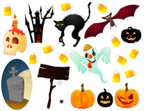 Halloween icon set Royalty Free Stock Photos