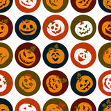 Halloween icon set of cheerful pumpkins.Set of icon. Royalty Free Stock Photography