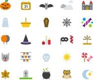 Halloween icon set Stock Images