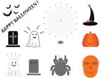 Halloween icon set Royalty Free Stock Images