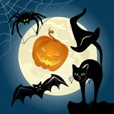 Halloween Icon Set. Halloween elements vector collection. This is file of EPS10 format Royalty Free Stock Photo