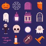 Halloween Icon Set in Flat Design vector illustration