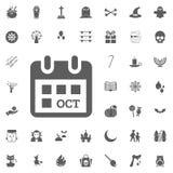 Halloween icon set. Vector illustration icons. october 31 calendar icon Stock Photos
