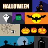 Halloween  icon set  illustration eps10 Stock Images