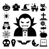 Halloween icon set. Royalty Free Stock Photography