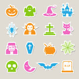 Halloween icon set. Royalty Free Stock Images