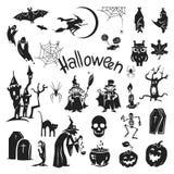 Halloween icon set, simple style vector illustration