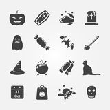 Halloween icon set Royalty Free Stock Image