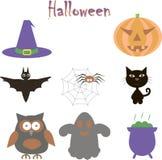 Halloween icon set Royalty Free Stock Photography