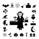 Halloween icon set Stock Photography