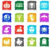 Halloween icon set Stock Photography