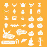 Halloween icon sets  Stock Image