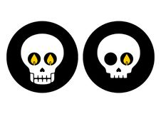 Halloween skull. Vector illustration. Halloween icon skull in modern line style. Vector illustration royalty free illustration
