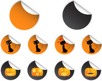 Halloween icon stickers set Royalty Free Stock Photography