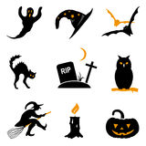 Halloween icon vector set Stock Photography