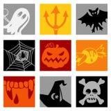 Halloween icons Royalty Free Stock Photo