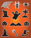 Halloween icons. Twelve icons for Halloween, illustration Royalty Free Stock Photography