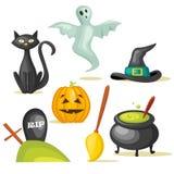 Halloween icons. Colorful Halloween icons,  illustration Stock Image