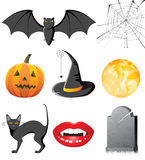 Halloween icons. 8 halloween icons - illustration vector illustration