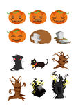 Halloween icons. There is 12 halloween icons Royalty Free Stock Photography
