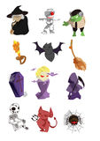 Halloween icons. There is 12 halloween icons Stock Images