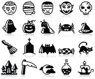 Halloween icons Royalty Free Stock Images