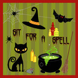 Halloween Icons. Set of scary halloween icons Stock Image