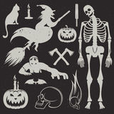 Halloween Icons and Badges set Stock Photos