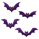 Halloween icons / bat. Halloween icons by watercolor paint touch stock illustration