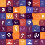 Halloween icons bright seamless pattern Stock Photos